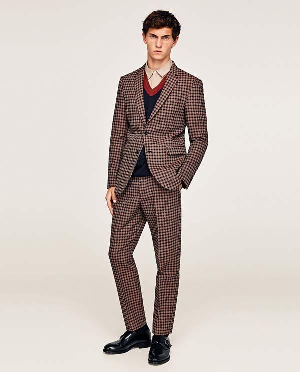 мужской костюм в клетку осень-зима 2017-2018 фото
