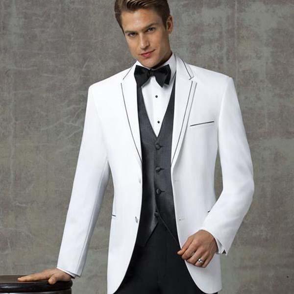 контрастный мужской костюм-тройка фото