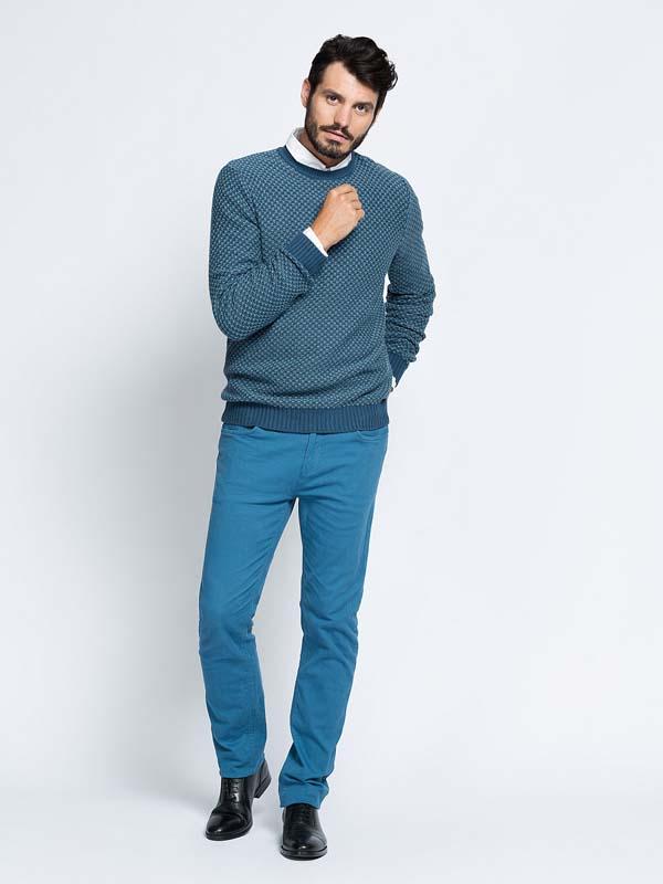 мужской зимний вязаный свитер фото