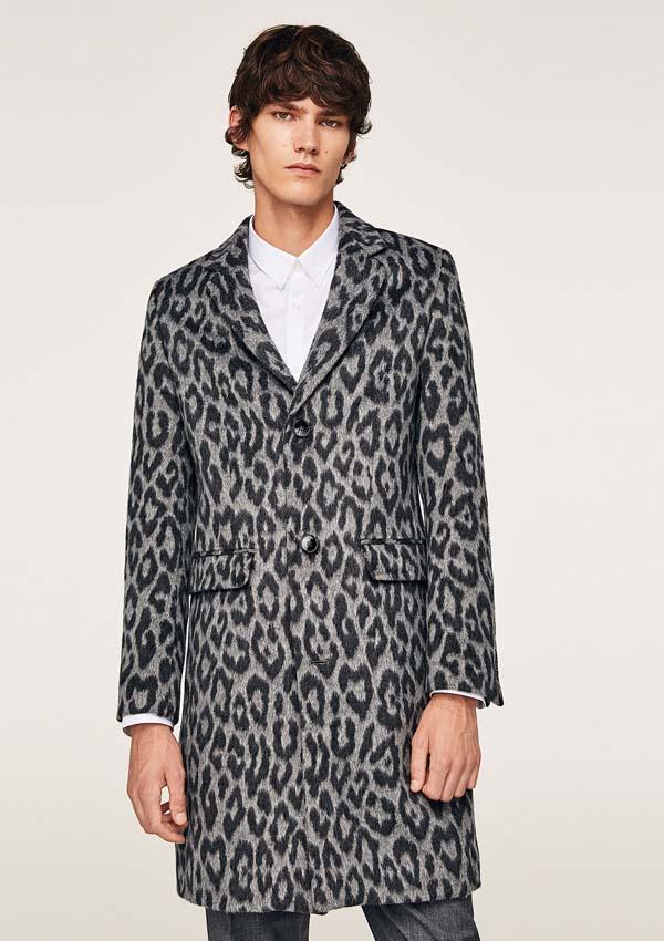 леопардовое мужское пальто фото