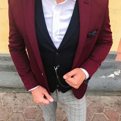 мужской винный пиджак фото