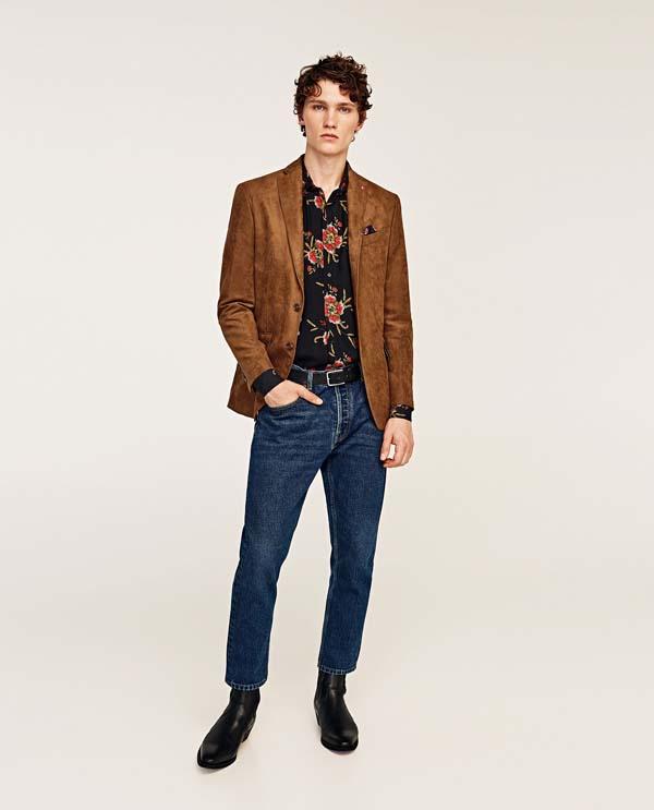 модный замшевый мужской пиджак фото