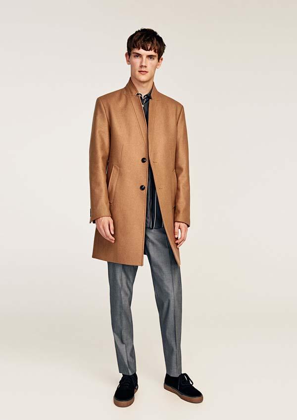 мужское шерстяное пальто 2018 фото