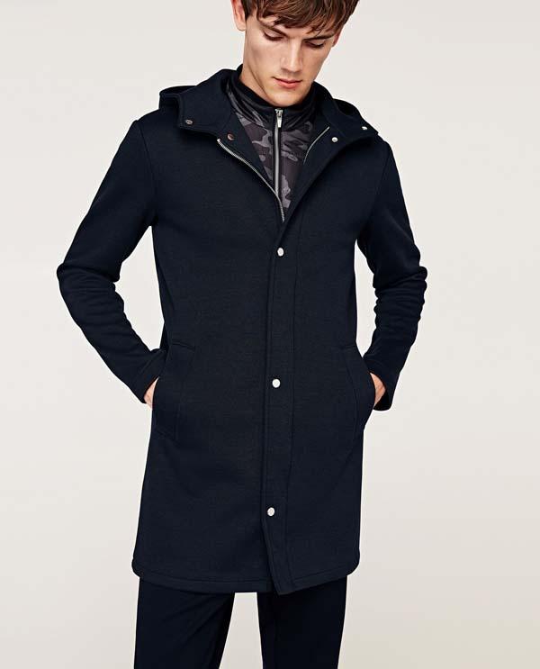 стильное синее мужское пальто 2018 фото