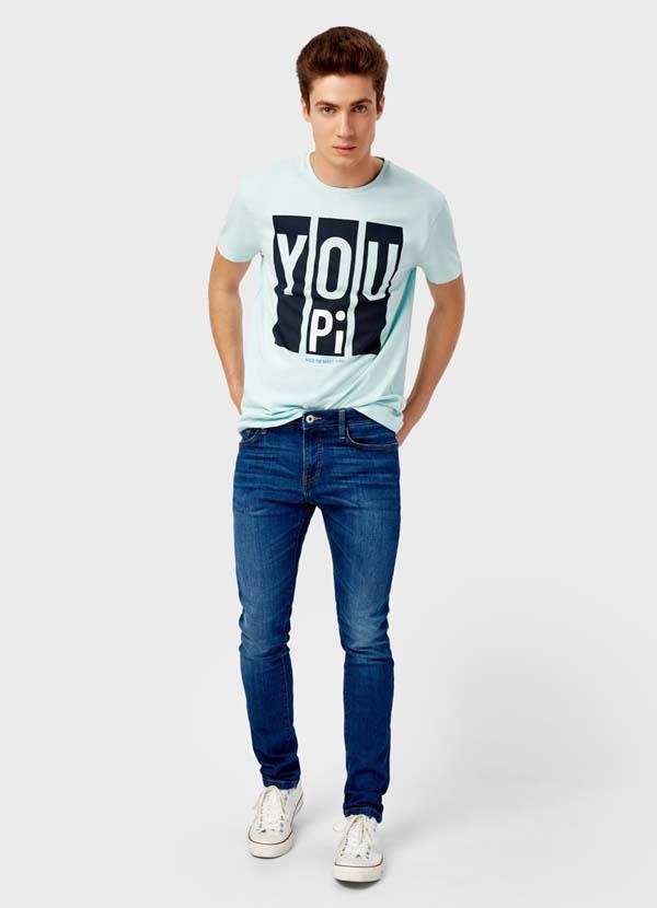 джинсы синие скинни 2018 фото
