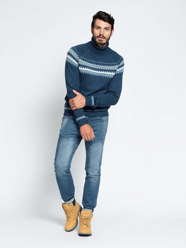 мужской свитер с воротом фото