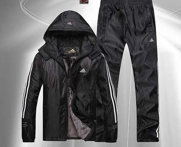 черный зимний костюм адидас фото