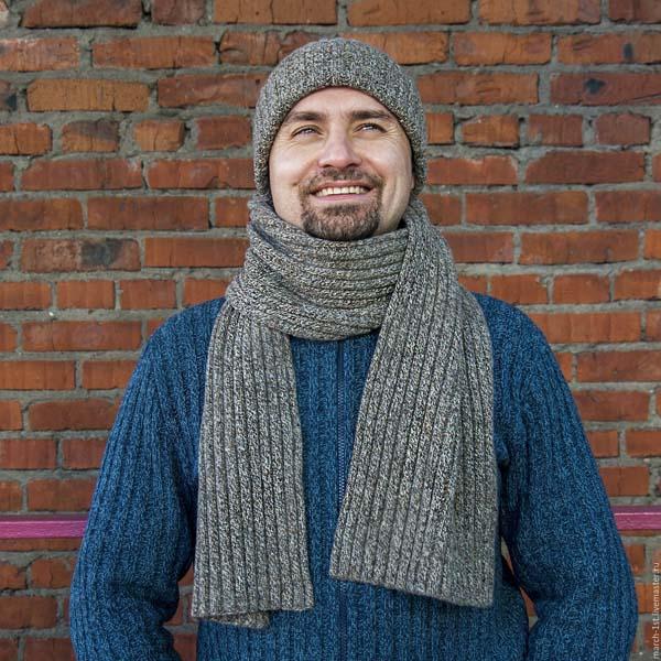 классический мужской шарф фото