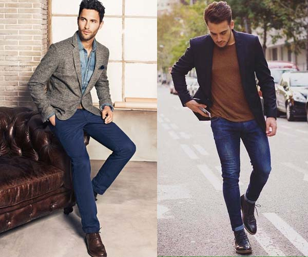 вариант пиджака и джинсов фото