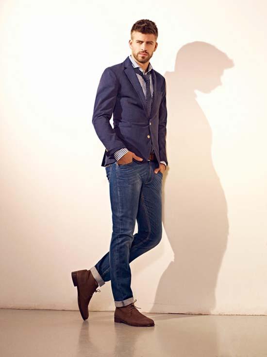 мужской пиджак под джинсы фото