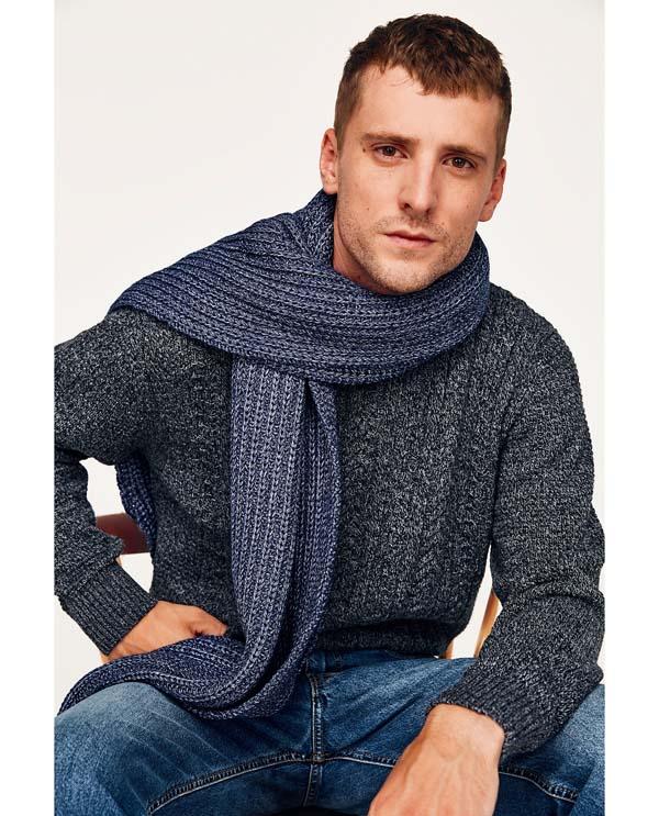 мужской трикотажный шарф фото