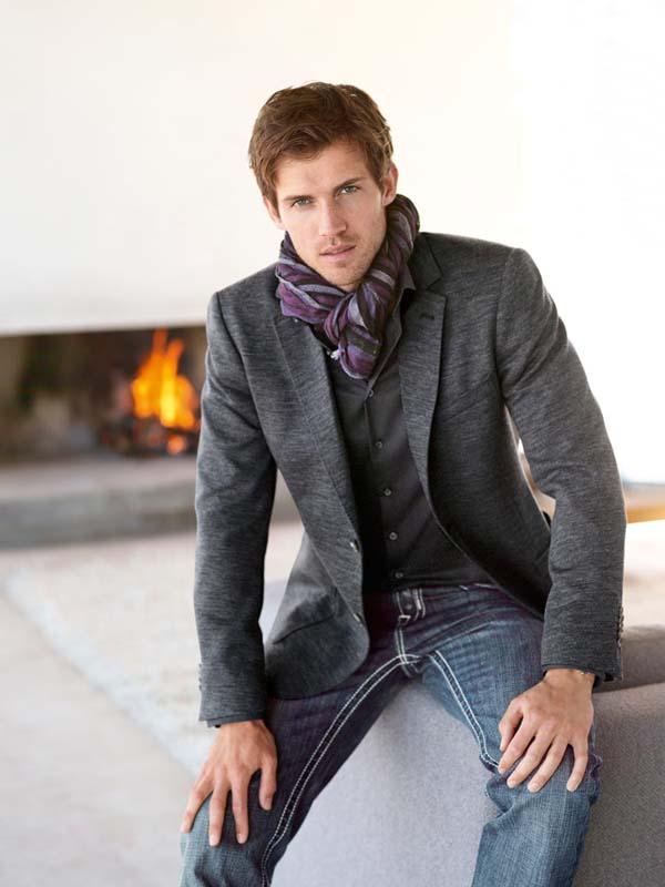 мужской шарф палантин фото