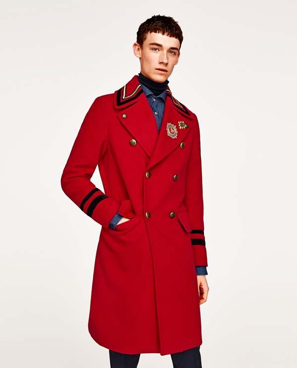 мужское красное пальто фото