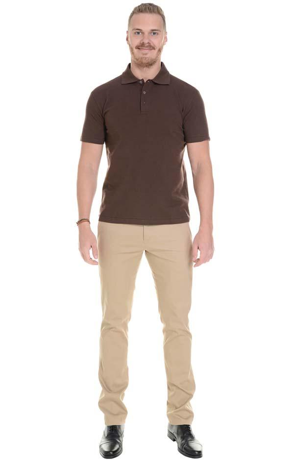 бежевые мужские штаны слаксы фото