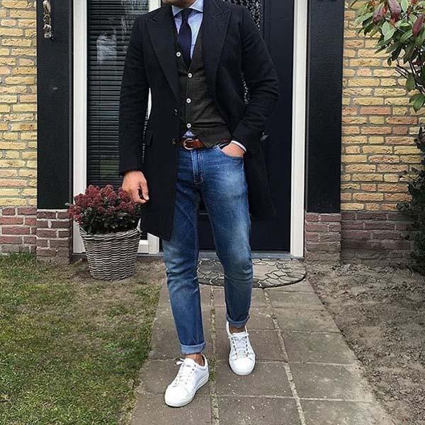 подворачивать мужские джинсы модно