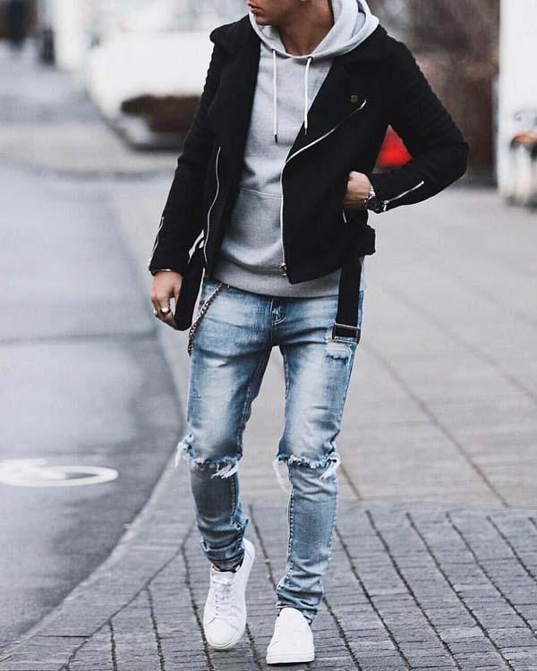 модные рваные джинсы мужские