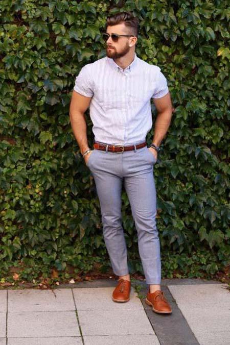мужские штаны слаксы фото