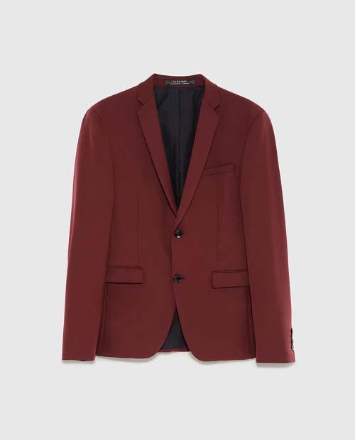 бордовый мужской пиджак