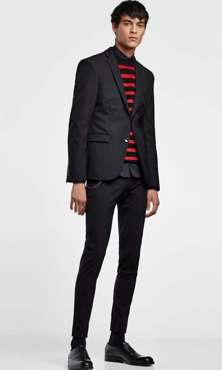 мужской черный пиджак 2018