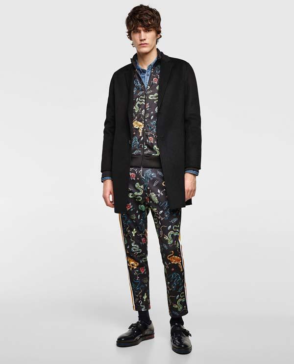 мужские брюки 2018 с принтом