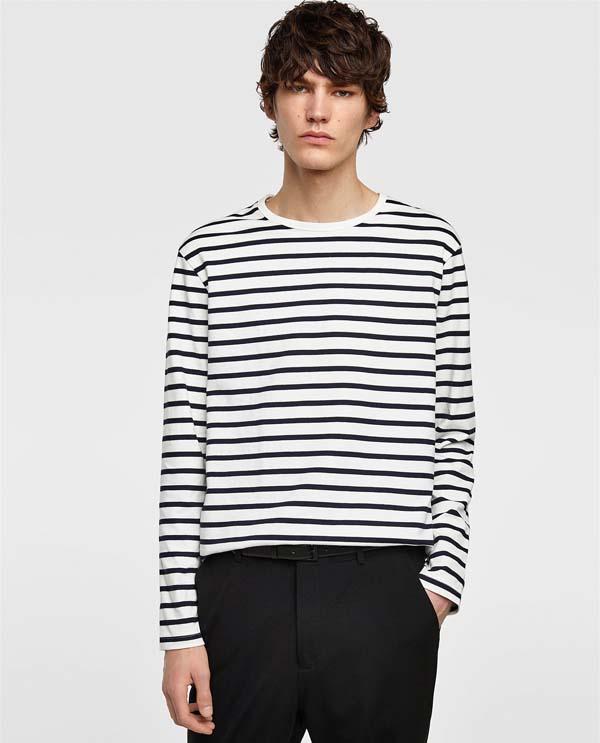 мужская полосатая футболка 2018