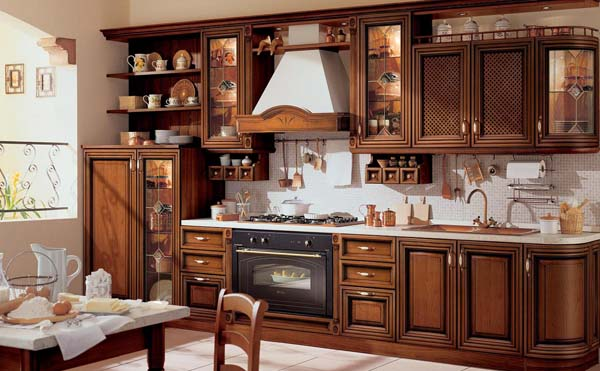 кухонный гарнитур в ретро стиле