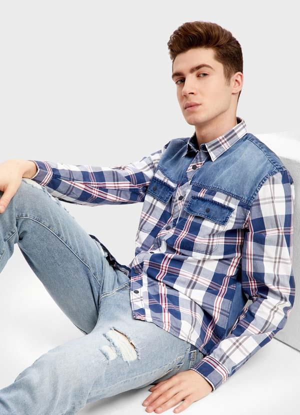 красивая мужская рубашка 2018