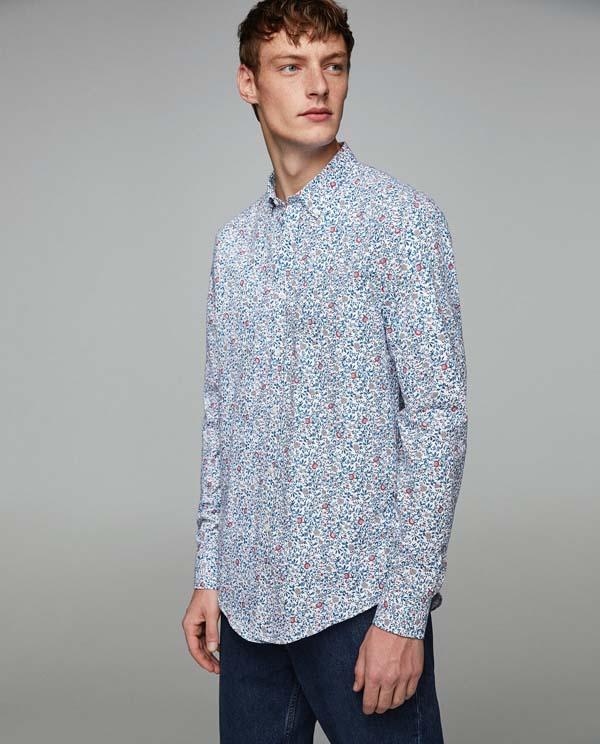 мужская рубашка 2018 принт