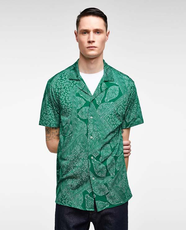 зеленая рубашка 2018