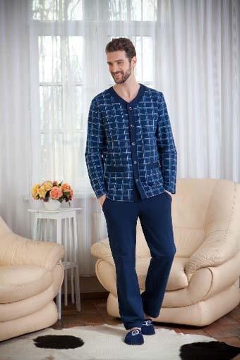 синяя мужская пижама