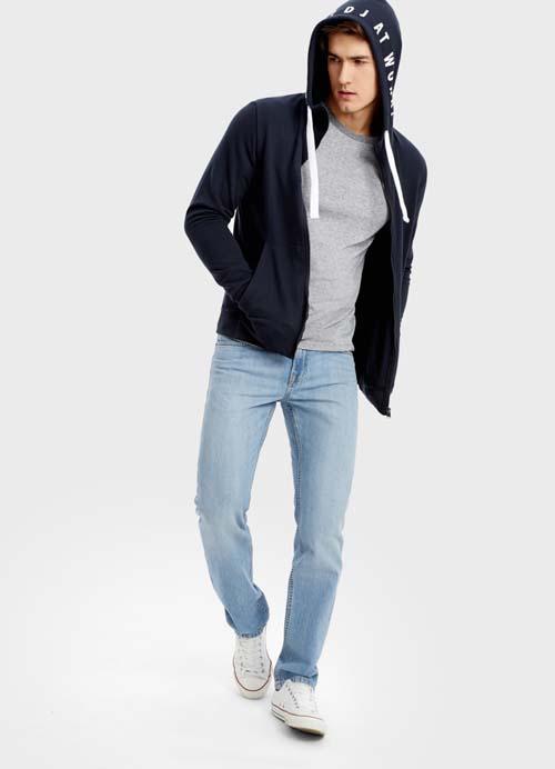 мужские голубые джинсы 2019