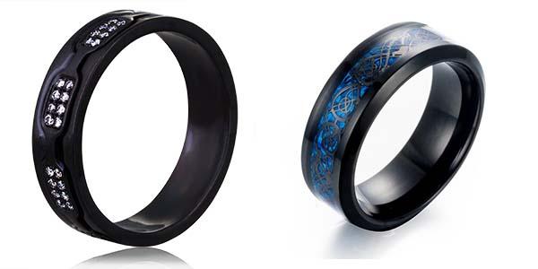 мужские черные кольца 2019