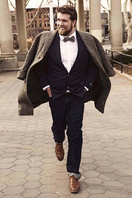 полный модник в костюме