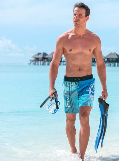 модные мужские шорты для плавания