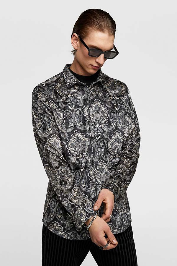 черная мужская рубашка 2019
