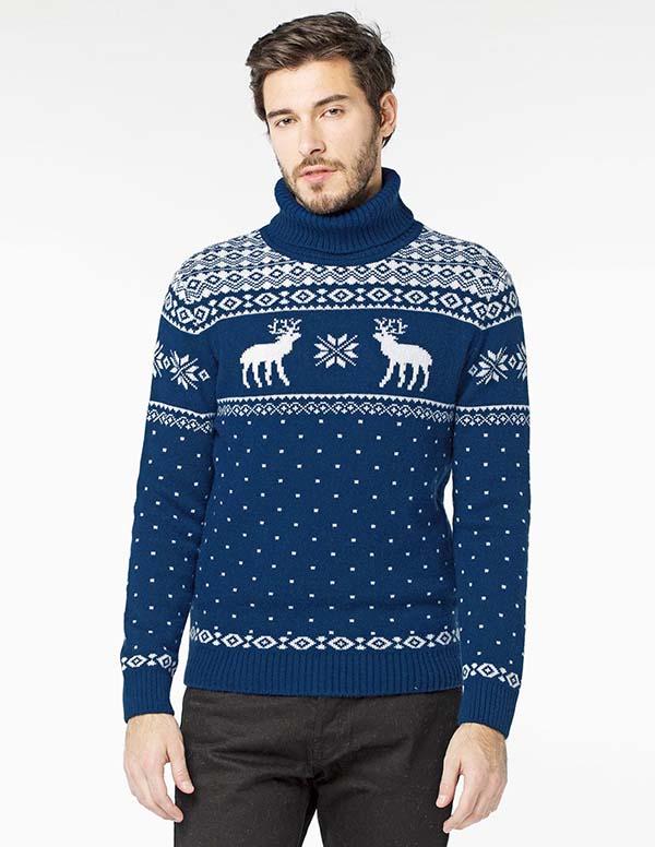 принт оленя на свитере фото